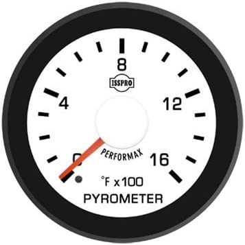 Black Bezel White Hub ISSPRO EV/² Pyrometer Without Color Band 0-1600 R14022 Full Kit White Face Red Pointer