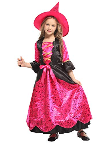 ZOEREA Girls Halloween Costume Dress Fairytale Witch Costume (XL)