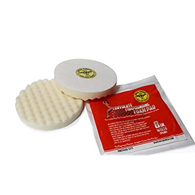Insta Finish 8 Inch White Waffle Foam Polishing Pad - 2 per Pack: Automotive