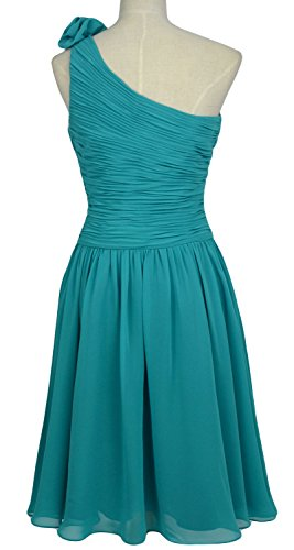 One Women Shoulder Short Gown Dress Cocktail Wedding Grau Bridesmaid Party MACloth RfqIUq