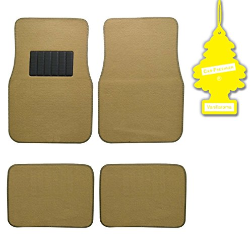bdk-light-beige-4-pc-universal-carpet-car-mats-w-heel-pad-little-tree-vanilla