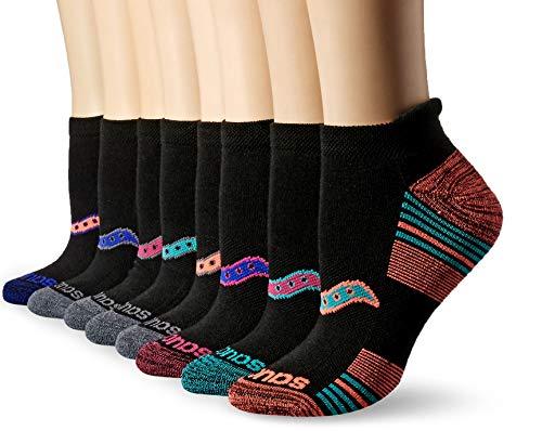 - Saucony Women's Performance Heel Tab Athletic Socks (8 & 16 Packs), Assorted Darks, Shoe Size: 5-10