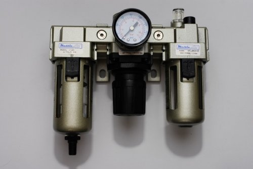 "Automatic Drain FRL Filter/Regulator/Lubricator 3/8"" NPT 2000 L/min with Gauge"