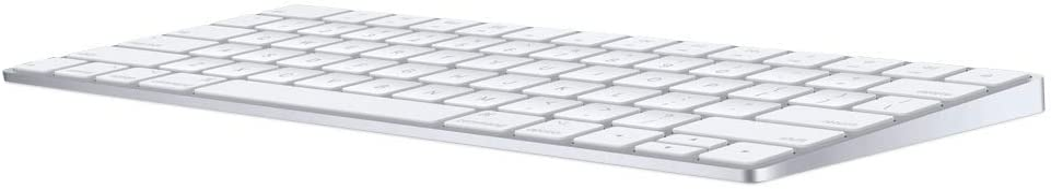 Apple Magic Keyboard (Wireless, Rechargable) (US English) - Silver (Renewed)