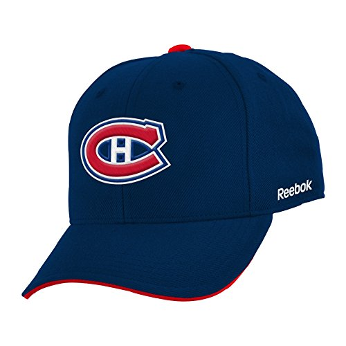 NHL Montreal Canadiens Boys 8-20 Basic Structured Adjustable Cap, One Size, Navy