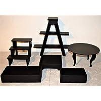kit de accesorios para candy bar, mesa de dulces 6 piezas, NEGRO