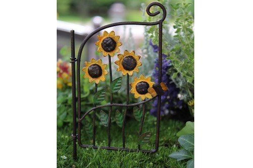 Miniature Fairy Garden Sunflower Gate