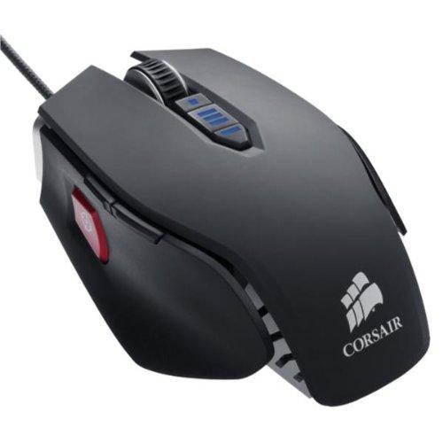Corsair Vengeance M65 FPS Gaming - Mouse - laser - 8 button(s) - wired - USB - gun metal black (Corsair M65 Vengeance Usb Wired Laser Gaming Mouse)