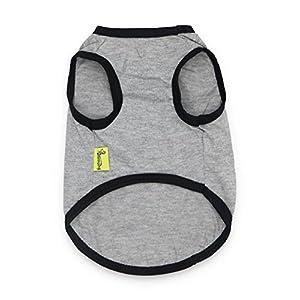 DroolingDog Pet Dog Shirt Dog Summer Clothes Puppy Shirts T Shirt for Small Dogs Boy, Large
