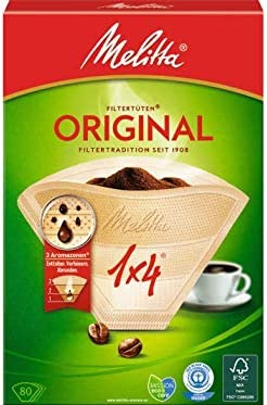 ORIGINALE Melitta 1x4 FILTRI caffè Originali Confezione Da 80