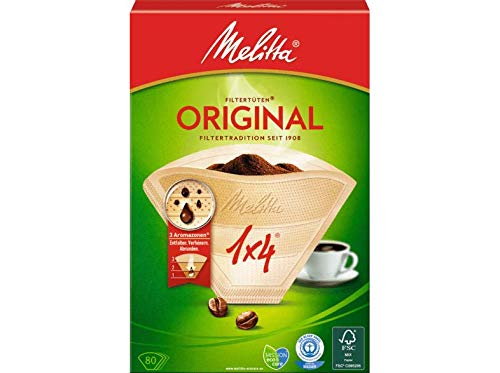 Melitta 1x4 Filtro Original para Maquina de Cafe