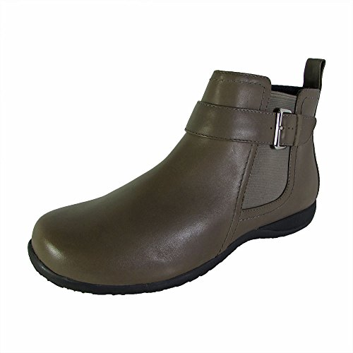 Vionic Womens Charm Adrie Casual Zip up Ankle Boot Shoes, Taupe, US 7 (Boot Charm Shoe)