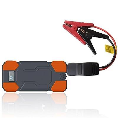 VOVI Car Jump Starter with Power Inverter Emergency 12V Starting Device Portable 2USB SOS Light Mobile Power Bank 18000mAh Car Charger for Car Battery Booster LCD Digital Display