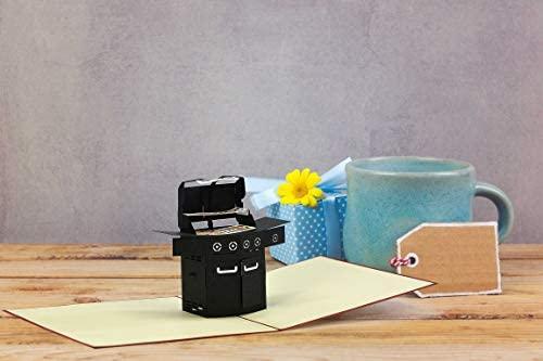 BBQ Grill Geschenke f/ür M/änner H20 Vatertagsgeschenk Grillgutschein Geschenkgutschein 3D Geburtstagskarte Grillen