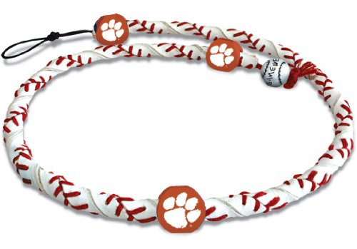 NCAA Clemson Tigers Classic Frozen Rope Baseball Necklace