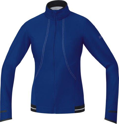 Gore Bike Wear Women's Air 2.0 Windstopper Soft Shell Jersey, Plum Blue/Alum Grey, Small