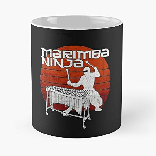 Marching Marimba - Marimba Ninja Marching Band Music - Funny Gifts For Men And Women Gift Coffee Mug Tea Cup White 11 Oz.the Best Holidays.