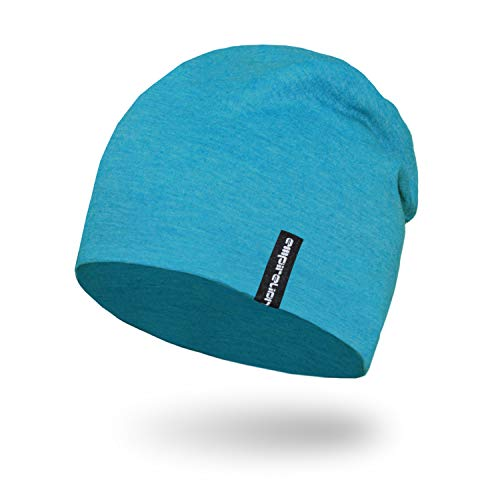 - Empirelion Slouch Beanies Knit Hat Thin Running Lightweight Skull Cap for Men Women (Blue Melange)