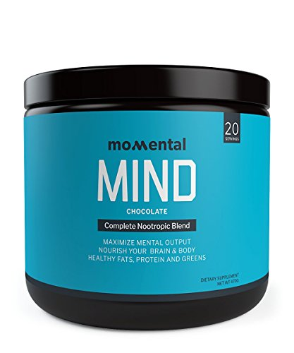 Momental MIND Full Body Nootropic Meal Replacement Blend with Grass Fed Collagen, MCT Oil, Organic Greens and Nootropic Blend