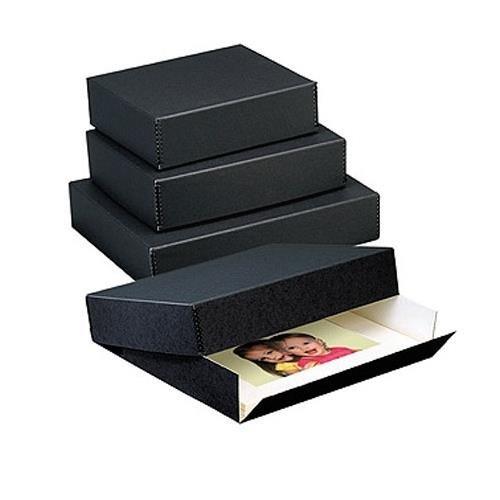 Lineco Archival 17x22'' Print Storage Box, Drop Front Design, 17.5'' x 22-1/2'' x 1-1/2'', Exterior Color: Black