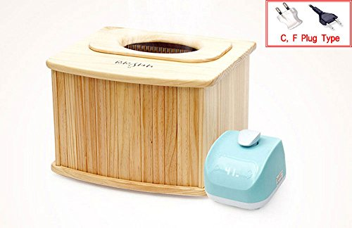 Kimsuja Dry Foot & Hip Bath Sitz Bath Wood No Water Far-Infrared Anion 220V (Large) by Kimsuja