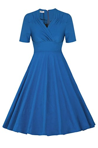ANGVNS Women Casual Vintage Pleated