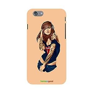 HomeSoGood I Like Hip Hop Orange Case For iPhone 6 (Back Cover)