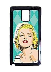 Engood Design Marilyn Monroe Pop Mint Green Case Durable Unique Design Hard Back Case Cover For Samsung Galaxy Note 4 New
