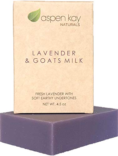 Lavender Goats Milk Soap Bar. Natural and Organic Soap. With Organic Skin Loving Oil. This Soap Makes a Wonderful and Gentle Face Soap or All Over Body Soap. 4oz Bar. (Goat Milk Face Soap)