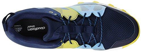 adidas Kanadia 8.1 TR, Scarpe da Trail Running Uomo Blu (Collegiate Navy/Mystery Petrol/Eqt Yellow)