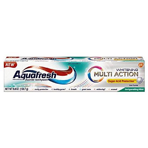 Aquafresh Extreme Clean Multi Action Whitening, Invigorating Mint, 5.6 oz Each (Pack of 4)