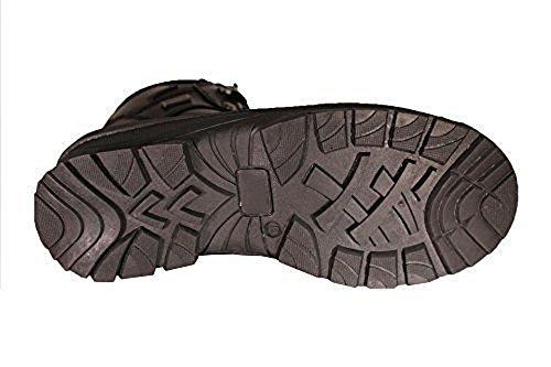 Zanco Mens Extra Breda Bredd Vattentäta Svarta Läderstövlar # 3704