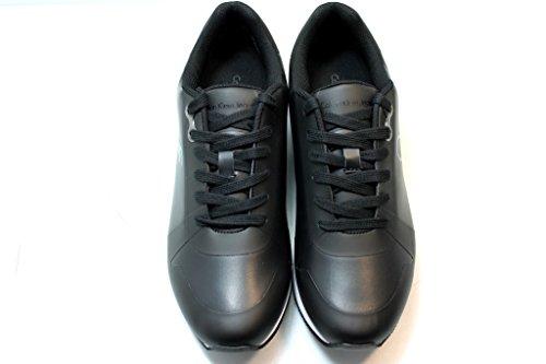 Sneakers Uomo JACQUES RUB SMOOTH S1674 Scarpa Sportiva Impermeabile Nero