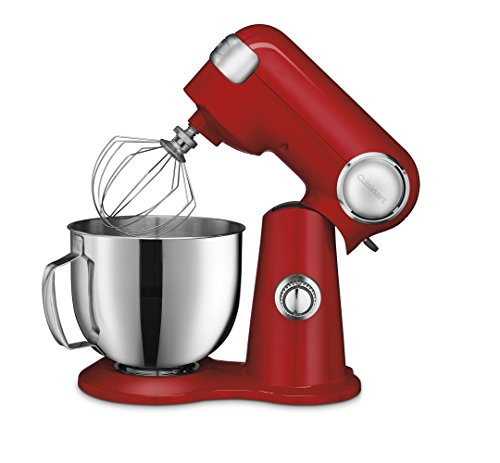 Cuisinart SM-50R 5.5-Quart Stand Mixer, Ruby Red