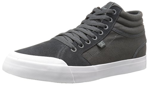 DC Men's Evan Smith Hi Sd Skateboarding Shoe, Dark Grey/White, 11.5 M US
