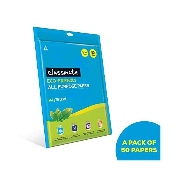 Classmate Multipurpose Paper Sheet Set, A4 Size, 75GSM - Pack of 50