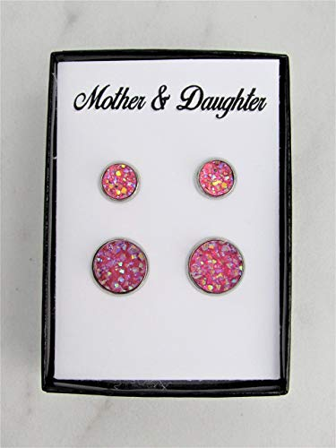Amethyst Earrings Gray Gemstone Earring Sparkly Druzy Small Gold Mother Gift R4-248 Natural Druzy Stud Earrings