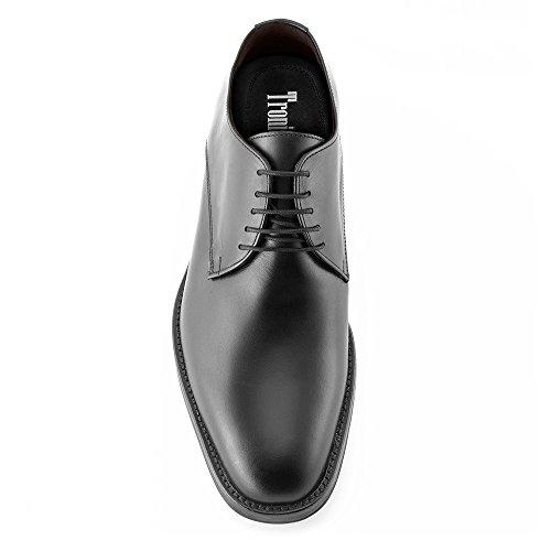 Masaltos Zapatos de Hombre con Alzas Que Aumentan Altura Hasta 7 cm. Fabricados EN Piel. Modelo Tokio Negro