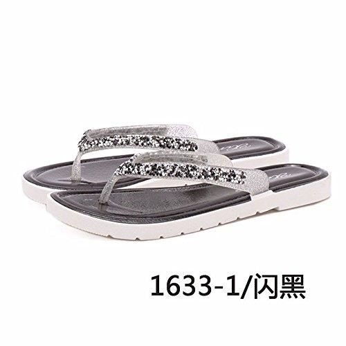 usura italiana piatte scarpe moda piedi di prodotti di freddo Nero LIUXINDA pantofole pantofole moda Nuovi coreana flip ladies a XZ Estate flop di donna versione trascinamento gcTWgHXU