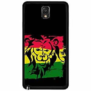 Lion on Rasta Flag TPU RUBBER SILICONE Phone Case Back Cover Samsung Galaxy Note III 3 N9002