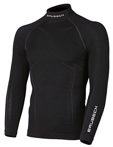 Brubeck Merino Herren Langarm Shirt | Atmungsaktiv | Winter-Sport | Thermo | Ski-Unterwäsche | Funktions-Unterwäsche | 78% Merino-Wolle | LS11920