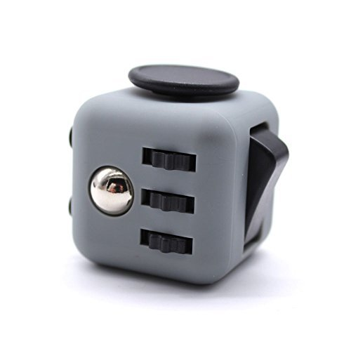 RESTER ABS Material Matt Surface 3.3cm Stress Release Anti-Stress Anxiety and Boredom Fidget Cube Toys (White/Black)