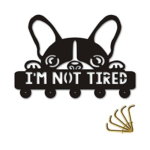 (Boston Terrier I am Not Tired Wall Hooks -Creative Lovely Dog Silihouette Decorative- Give Her, His Unique)