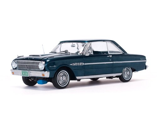 (1963 Ford Falcon Hard Top Oxford Blue 1/18 Diecast Model Car by Sunstar 4543)