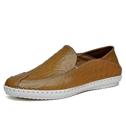 unita on 2018 Dimensione in EU uomo Mocassini Color slip Mocassini Shufang 38 Cachi moda tinta Scarpe shoes casual Uomo Bianca mocassini minimalismo Da pelle qTRRwv4X