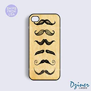 iPhone 4 4s Tough Case - Vinatge Mustaches iPhone Cover