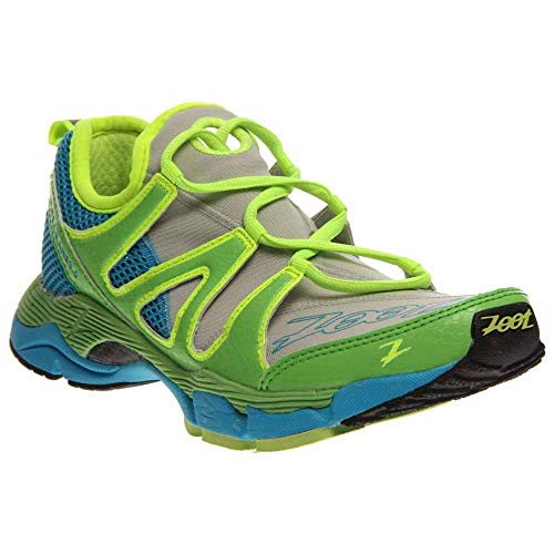 Zoot Women's W Ultra Kane 3.0 Running Shoe,Grey/Green Flash/Atomic Blue,8 M US