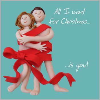 all i want for christmas is you the one i love christmas card - Love Christmas Cards