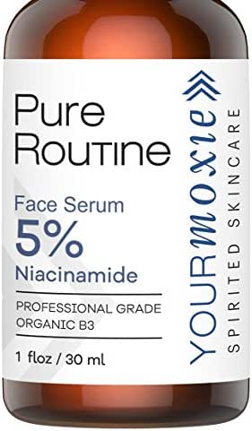 Natural and ORGANIC Niacinamide Face Serum - Vitamin B3 5% - Hydrating Serum that builds Collagen for ANTI AGING, great Wrinkle Reducer and ACNE Scar Removal, Better than Korean Skin Care!