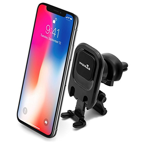 Widras New Air Vent Car Mount Magnetic Universal Phone Holder 2nd Generation Cradle for iPhone X 8 8 Plus 7 7 Plus SE 6s 6 Plus 6 5s 5 Samsung Galaxy S9 S8 S7 S6 S5 S4 and Other